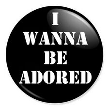 """I Wanna Be Adored 25mm 1"""" Pin Badge Button The Stone Roses Ian Brown"""