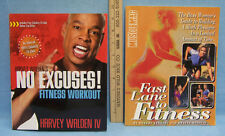 Harvey Walden No Excuses Workout  Muscle Mag Women's Fitness Lot of 2