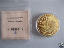 Münze Replik Gold Eagle von 1933 polierte Platte Cu vergoldet limitierte Auflage