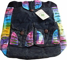 FAIR TRADE COTTON TIE DYE GOTH HIPPY BOHO DRAWSTRING BACKPACK SHOULDER BAG