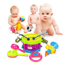 5X Baby Boy Girl Drum Set Musical Instruments Kids Band Kit Children Toy Gift HU