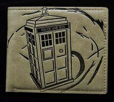 Doctor Who Short Purse The Police Box Pu Bifold Zippper Coin Wallet