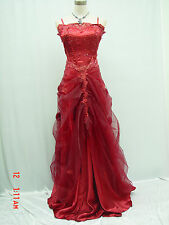 Cherlone Plus Size Red Long Ballgown Wedding Evening Bridesmaid Formal Dress 22