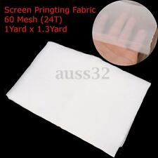 35.4 x 50'' 1 Yard White Polyester Silk 60M 24T Screen Printing Mesh Fabric