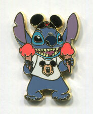 STITCH as Tourist with Mickey Ears, T-Shirt and Two Ice Cream Cones Disney Pin