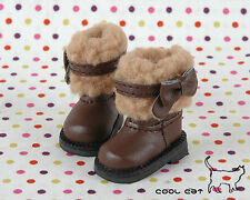 ☆╮Cool Cat╭☆【18-01】Blythe Pullip Doll Boots # Brown