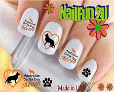 "RTG Set#105M DOG BREED ""Australian Cattle Dog MOM"" WaterSlide Decal Nail Transfr"