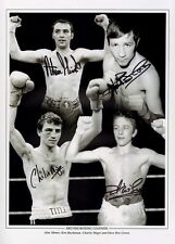 Boxing Legends print Alan Minter, Charlie Magri, Dave Boy Green, Ken Buchanan