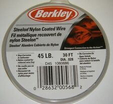 Berkley Steelon Nylon Coated Fishing Wire Leader SS Material D45 45lb 30ft