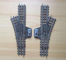 Vintage TRIX EXPRESS? Pappschwellen? Schienen Gleise Dreileiter 2 x Handweiche