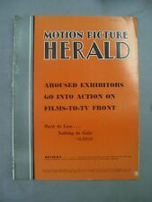 MOTION PICTURE HERALD MAGAZINE JANUARY 25 1958 BEST NOVELS BEST PLAYS WARNER BRO