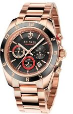 ZEITNER SPORTS Chronograph  ROSE Gold Plated / Black Face  GENTS WATCH