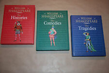 Set of 3 Large HC Shakespeare Volumes; Histories, Comedies & Tragedies