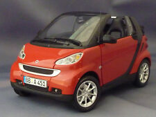 SMART FORTWO CABRIOLET 2007 RED MINICHAMPS 150036333 1/18 BLACK ROADSTER ROT