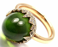 New! Authentic Pomellato Chimera 18k Rose Gold Peridot Diamond Ring