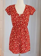 90's Grunge Babydoll Dress S Urban Outfitters Cute SunDress Boho Red Floral