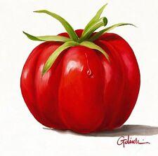 Paolo Golinelli: PoMoDoRo Fertig-Bild 30x30 Tomate Gemüse Küche Essen