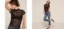 The Reformation Damon Top Size S Black NWT Short Sleeve Cap SOLD OUT GORGEOUS