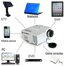 Mini Multimediale 3D 1080P LED Proiettore Home Theater Laptop VGA/USB/HDMI/AV/SD