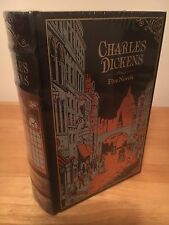 CHARLES DICKENS FIVE NOVELS LEATHER BOUND HARDBACK BOOK
