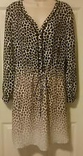 NWT Banana Republic SOLD OUT Animal Print Tri-Colored hombre dress Sz 10 r.$110