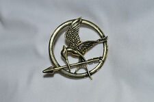 Hunger Games Mockingjay Bird Pin Badge Brooch Bronze Effect UK