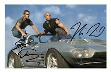 FAST & FURIOUS - PAUL WALKER & VIN DIESEL AUTOGRAPHED SIGNED A4 PP POSTER PHOTO