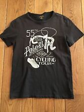 POLO RALPH LAUREN Black CYCLING TOUR Graphic T-Shirt NWOT Small