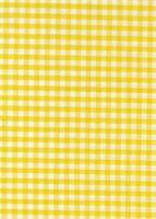 """Yellow & White 1/4"""" Gingham check fabric/material - FREE UK P&P"""
