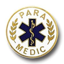 Paramedic Lapel Collar Pin Medical Emblem Blue Star of Life Graduation 974 New
