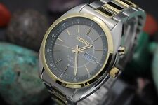 *NEW* SEIKO Kinetic 100M 7M63 Gold Plate & Stainless Steel Men's Watch Full Set