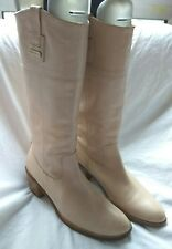 Karen Millen Designer Womens Block Heel Leather Winter Knee High Boots Size UK 5
