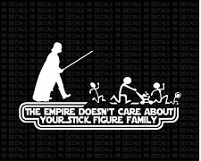 Darth Vader stick figure star wars Vinyl decal sticker funny car window