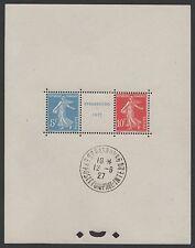 """FRANCE BLOC FEUILLET 2 a """" STRASBOURG 1927"""" NEUF xx AVEC CACHET EXPO. TTB K533F"""