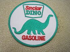 """Sinclair Dino Gasoline Oil 3"""" Round Embroidered Iron On Car Patch  *New*"""