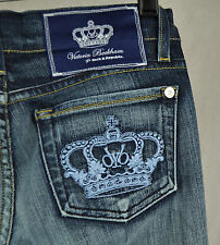 Rock & Republic Victoria Beckham Madrid Blue Crown Jeans 26 USA 200089