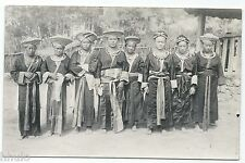 BM324 Carte Photo vintage card RPPC Indochine groupe type traditionnel Femme