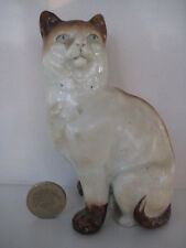 19th CENTURY STAFFORDSHIRE VICTORIAN MANTLE CAT WITH BOW