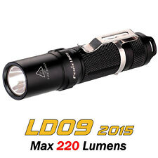 Fenix LD09 2015 Edition Cree XP-E2 R3 LED 220 Lumens Flashlight EDC Pocket Torch