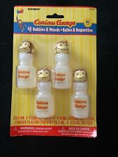 Curious George Birthday Party Supplies- Bubbles and Wands-4ct.-Favors