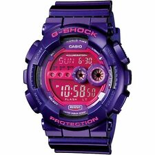 Mens Casio G-Shock Metallic Purple Rubber Sport Watch Limited Edition GD100SC-6