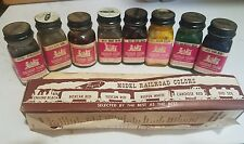 8 Vintage 1963 Pre-Owned Foquil Railroad Colors Model Paint w/Box & Paperwork