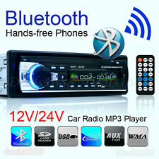 Bluetooth Car Stereo Audio 1 Din In-Dash Units Fm Radio Aux Input Sd Usb Mp3 Wma
