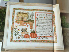CROSS STITCH CHART Pumpkin Soup Recipe Autumn Sampler Picture PATTERN ONLY