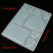 3D Fairy Elf House Door Silicone Fondant Mould Cake Decor Chocolate Mold Useful