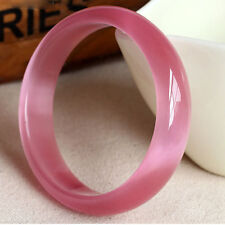 60mm Chinese Natural Pink Nephrite Jade/ Gems Bracelet Bangle AAA
