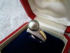 """Authentic   """"MIKIMOTO"""" Vintage 18k &14k gold Akoya Pearl & Diamond Ring"""