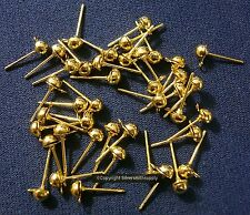 40 Pcs dangle post earring findings no clutches gold plated earrings fpe121