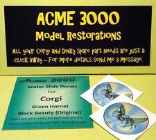 Corgi Green Hornet 268 Repro Replacement Original Roof WaterSlide Decal Transfer