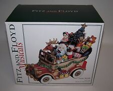 Fitz and Floyd Musical Santa Mobil Plays We Wish You a Merry Christmas NIB